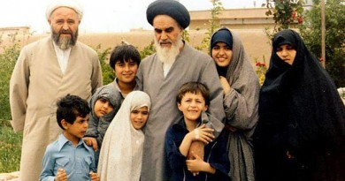 امام خمینی در کنار خانواده