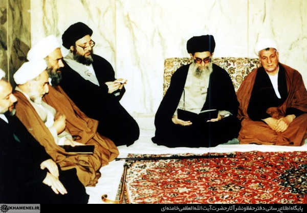 شهید حکیم در دیدار با رهبری