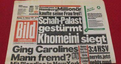 تیتر روزنامه آلمانی درباره امام خمینی، ٤٠ سال پیش